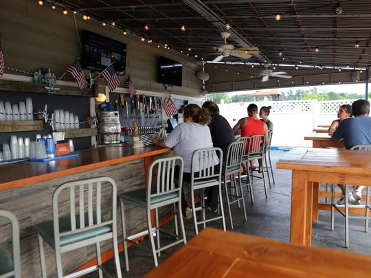 The bar at Barley on the Hudson in Tarrytown July 5,