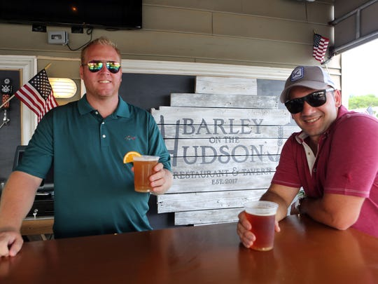 Bobby Harris, left, and Chris Surace, co-owners of Barley on the Hudson in Tarrytown along with a third partner, July 5, 2017. The restaurant opened on the Fourth of July.
