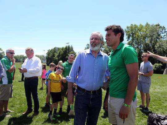 Gerry Adams, president of the Sinn Fein political party in Ireland, at the grand opening celebration of the Rockland Gaelic Athletic Association's new clubhouse July 9, 2017 in Orangeburg.
