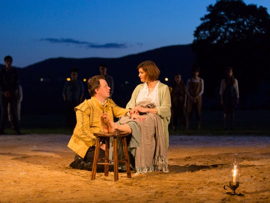 Sean McNall and Mary Bacon in Hudson Valley Shakespeare's