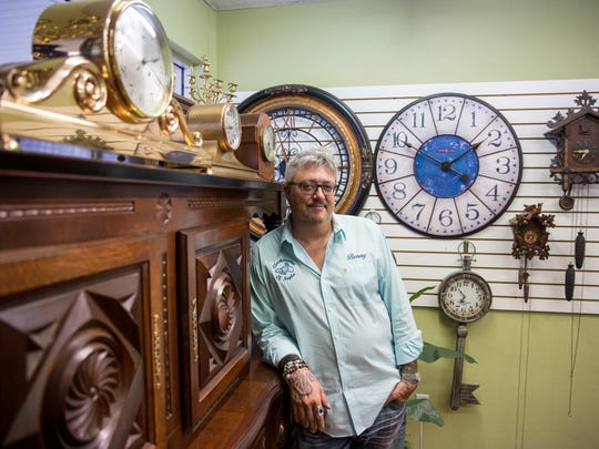 Benny Daidone, owner and master craftsman of Clockmaster of Naples,stands in his shop on Thursday, July 13, 2017. Daidone has been in the clock repair industry for 32 years and recently took over the East Naples shop.