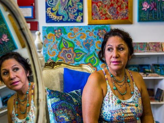 Local artist Jane Vallejo in her art studio in Naples on Wednesday, July 19, 2017.