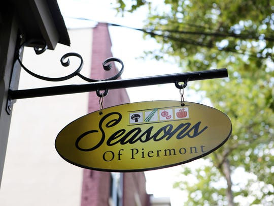 A sign outside Seasons of Piermont, formerly Xaviars