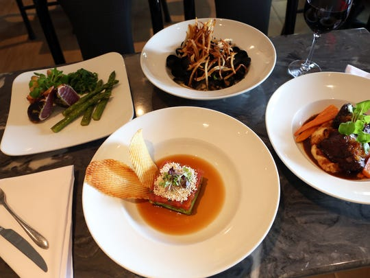 Bigeye tuna tartare, along with wasabi crusted bigeye tuna, moules marinieres, and red wine braised short ribs at Freelance Cafe & Wine Bar July 18, 2017. Peter X. Kelly sold this restaurant and also Xaviars at Piermont, which changed the name to Seasons of Piermont, to a new owner last year.