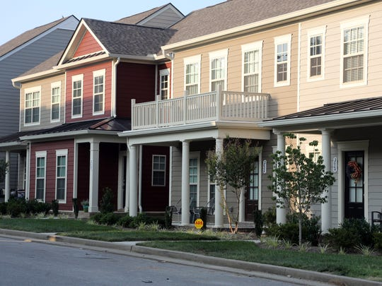 A street of completed homes in Carothers Farms subdivision in southeast Davidson County, where Regent Homes expects to build up to 3,400 residences.