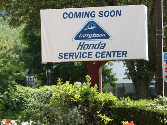 A sign for the Honda Service Center at the site of