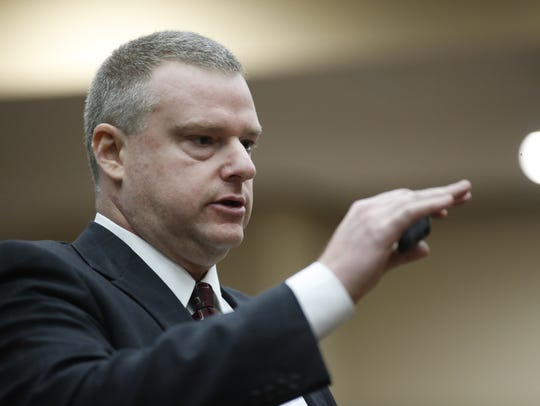 State Prosecutor Jon Fuchs during the trial of Henry