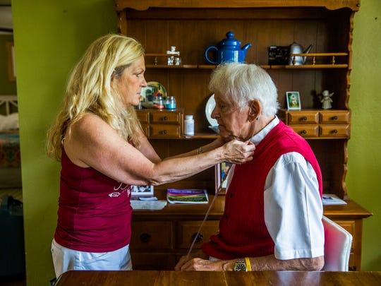 Del Ackerman, 81, and his wife Theresa in their Naples