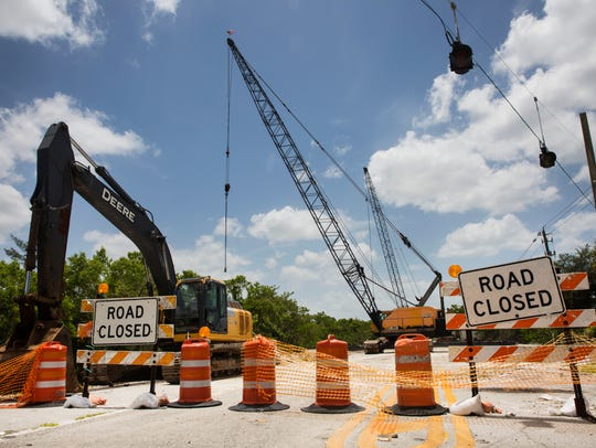 Vanderbilt Drive remains closed for construction on