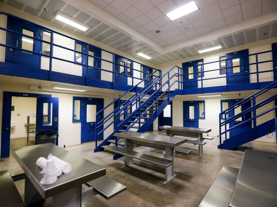 A housing unit at the Polk County Jail on Monday, July