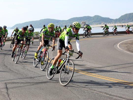 Nearly 5,000 riders from the Gran Fondo New York race