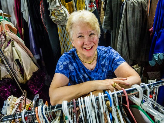 Judy Hushon, wardrobe mistress for Opera Naples, at