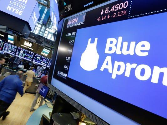 AP FINANCIAL MARKETS WALL STREET BLUE APRON F A USA NY