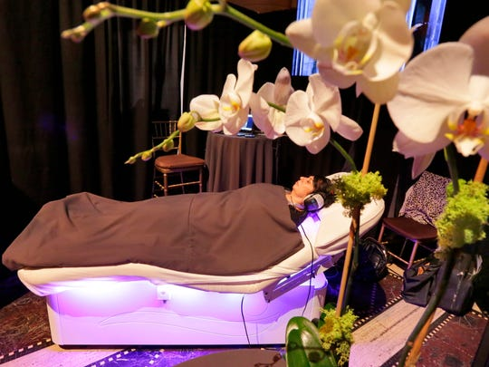 The Spa Wave bed from the ame Spa & Wellness Collective, at the Turnberry Isle Miami Resort, is experienced at the International Spa Association event, in New York.