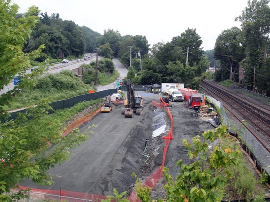 The site where the proposed affordable housing in Chappaqua would be located, between the Saw Mill Parkway and the Chappaqua train station in Chappaqua Aug. 15,  2017.