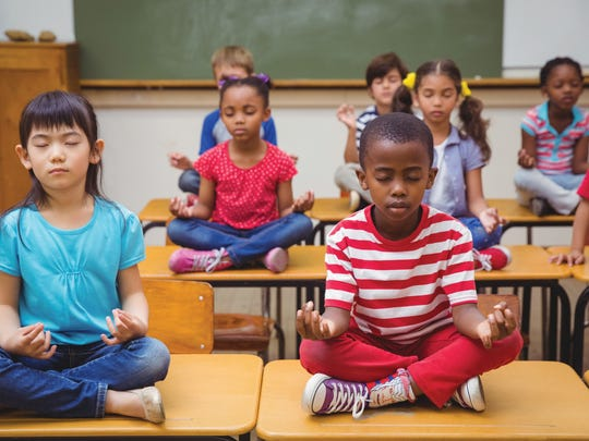 Meditation slows down minds and helps bodies relax.
