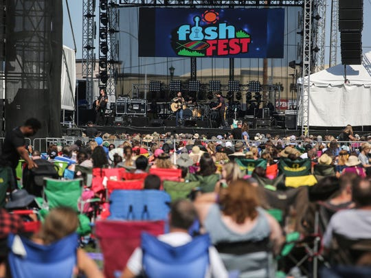 For All Seasons perform at festival Fish Fest at Riverfront City Park in Salem, Oregon on Saturday, August 19, 2017.