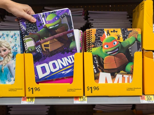Notebooks are available in Walmart's Back-To-School section.