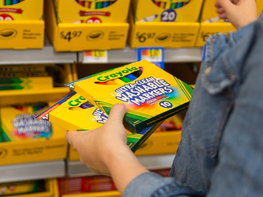 Crayola Markers are available in Walmart's Back-To-School section.
