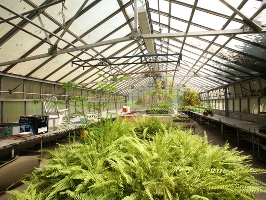 This is a view of the greenhouse at Mount Vernon High