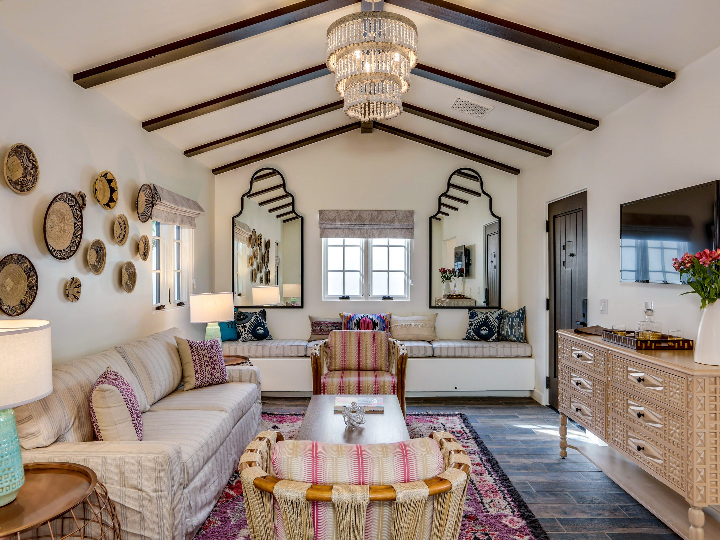 This La Serena Villas living room makes us want to play with patterns in our own homes.