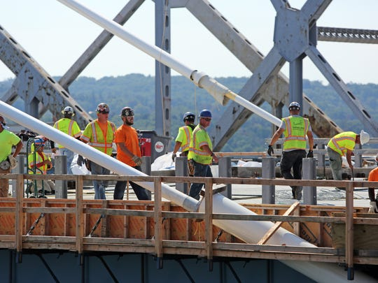Before anyone could go over the Gov. Mario M. Cuomo Bridge, workers had to be able to go while on the job. That's where Cortlandt Manor's Got to Go came in, supplying portable toilets at more than a dozen sites for Tappan Zee Constructors. Now, Got to Go is suing, saying the state and the Thruway didn't pay TZC, and TZC owes $169,296 for services the portable-toilet firm provided.