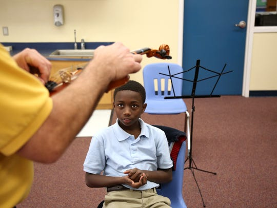 Apalachee Elementary School strings teacher Jimmy Gillis