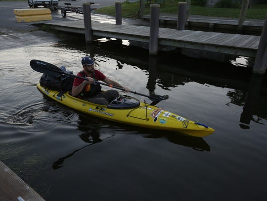 Justin McArthur of Fond du Lac gets ready to launch