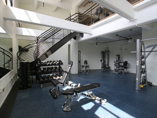 The gym at the Uno complex in Yonkers.