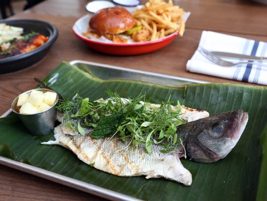 Grilled whole branzino at Pubstreet, a new restaurant