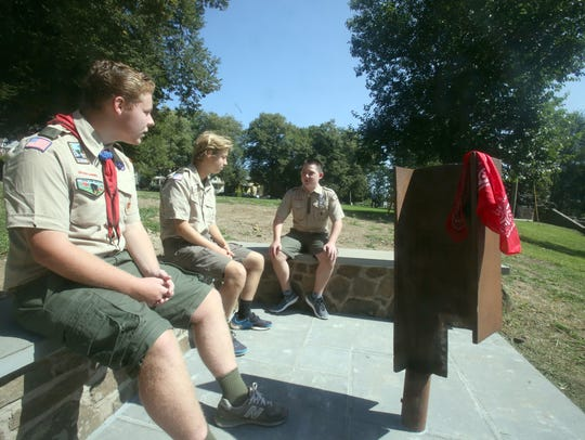 Chris Walsh, 17, left, a member of Nyack Boy Scout