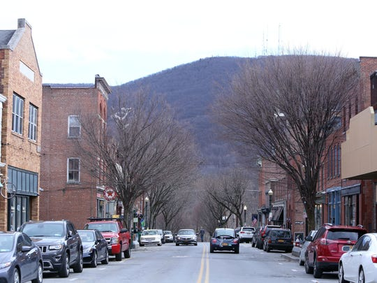 Looking east on Main Street in Beacon, Feb. 26, 2017.