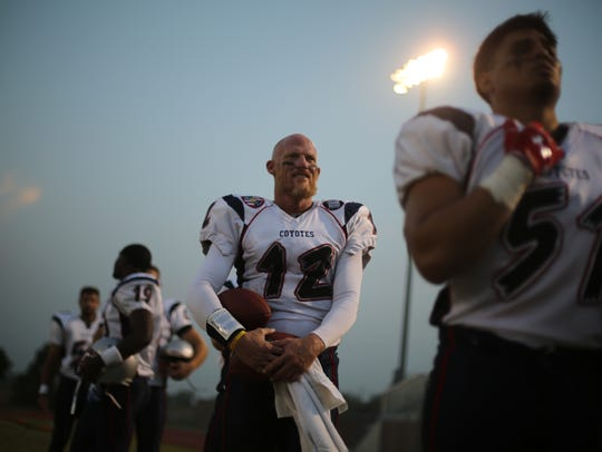 Todd Marinovich waits to play in his first game for
