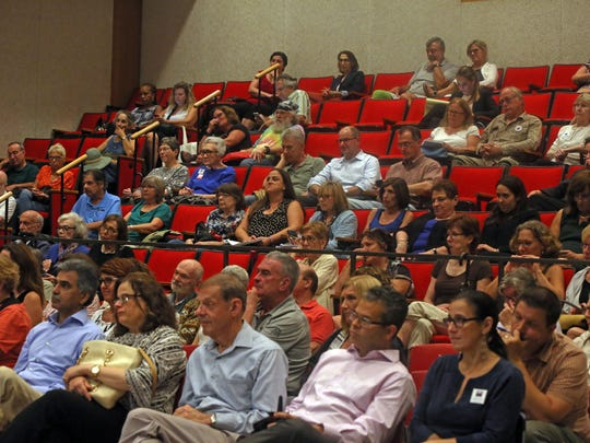 Westchester residents attend a candidates forum by the League of Women Voters where Ken Jenkins and George Latimer debate for County Executive at Chappaqua Library Sept. 5, 2017.