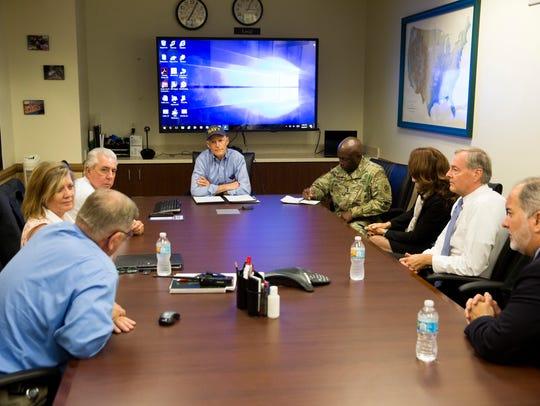 Florida Gov. Rick Scott speaks with local response