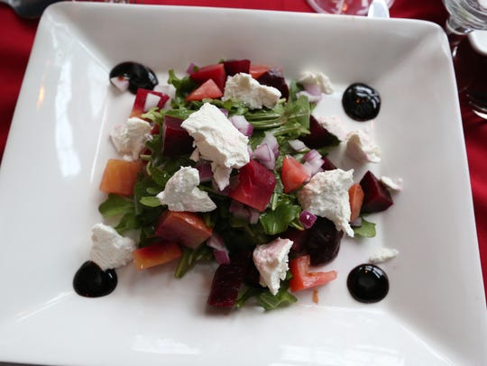 Beet salad with goat cheese at Fratelli's Trattoria