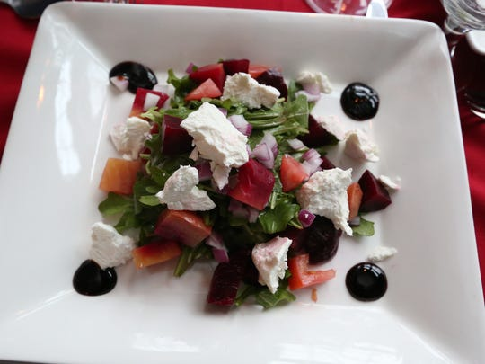 Beet salad with goat cheese at Fratelli's Trattoria in Croton-on-Hudson.