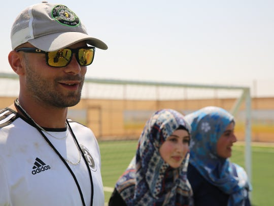 Sacir Hot of Fair Lawn was part of a group of former pro soccer players who gave clinics at the Zaatari refugee camp in Jordan.