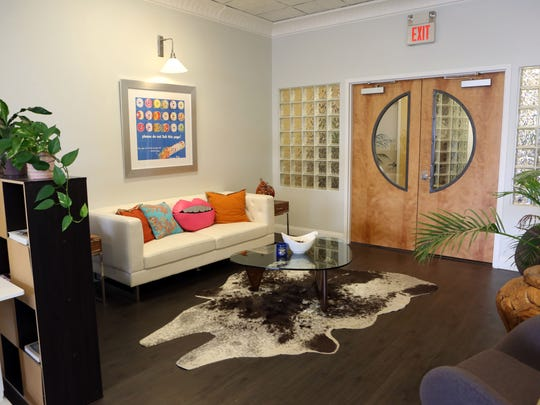 A sitting area at Share Space, a co-working space in Nyack Sept. 5, 2017.