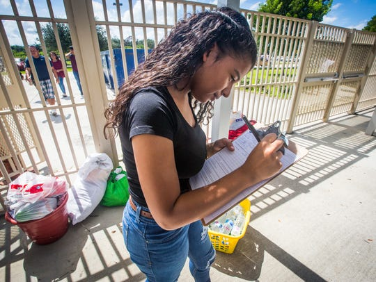 Dalissi Nunez of Fort Myers gets herself and her parents