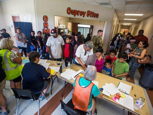 Oak Hammock Middle School has become an emergency storm