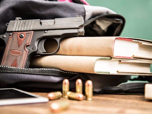 Gun violence in school setting.