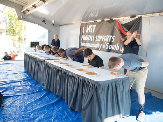 What's a fall festival without a pie eating contest?