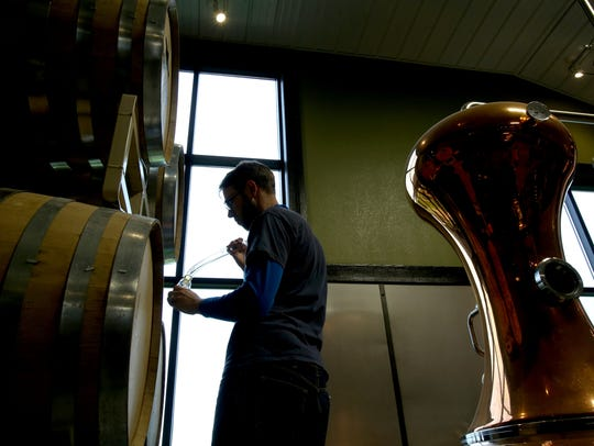 Iron Fish Distillery brewer Dan Krolczyk takes out