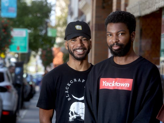 Rappers DVD, a.k.a. Darian Van Dunk, left, and his brother Tron, a.k.a. Norvin, photographed in Nyack Sept. 16, 2017.