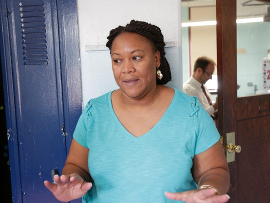 Tashina Haywood, a 5th grade teacher at the Rebecca