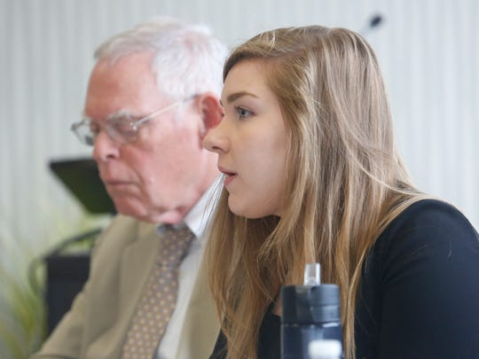 Jennifer Wilson, director of program and policy, League of Women Voters of New York State at The Journal News editorial board meeting in Harrison on Sept. 20, 2017.