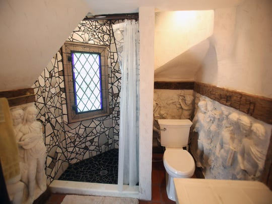 A bathroom inside Wing's Castle in Millbrook Sept.