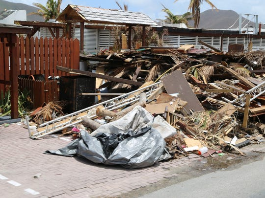 St. Maarten saw widespread damage from Hurricane Irma. The team said Tortola, in the British Virgin Islands, and Dominica, a sovereign island nation, were even harder hit.