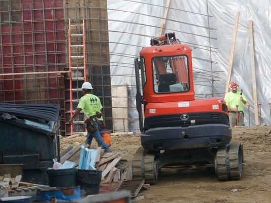 White Plains construction site